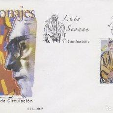 Sellos: EDIFIL 4026, ARTE, LUIS SEOANE: EL VIEJO Y EL PÁJARO, PRIMER DIA DE 17-10-2003. Lote 191810416