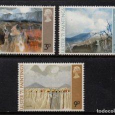 Sellos: GRAN BRETAÑA 621/23** - AÑO 1971 - PINTURA - OBRAS DE PINTORES IRLANDESES. Lote 191905741