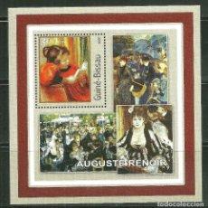 Sellos: GUINEA BISSAU 2001 HB *** ARTE - PINTURA - AUGUSTE RENOIR. Lote 192461022