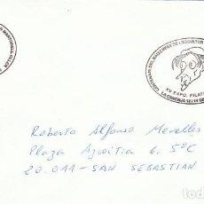 Sellos: AÑO 1996, CENTENARIO DEL ESCULTOR SALVADOR MARTORELL, MATASELLO DE LA CANONJIA. Lote 192483467