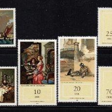 Sellos: ALEMANIA ORIENTAL 2375/80** - AÑO 1982 - PINTURA - OBRAS DEL MUSEO NACIONAL DE SCHWERIN. Lote 193001185