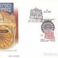 Sellos: EDIFIL 3809/10, LAS EDADES DEL HOMBRE EN ZAMORA, PRIMER DIA 20-7-2001. Lote 193708058