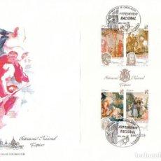 Sellos: EDIFIL 3090, PATRIMONIO ARTISTICO NACIONAL: TAPICES (GOYA Y OTROS), PRIMER DIA DE 28-11-1990 SFC. Lote 194865507