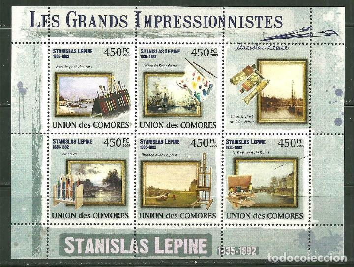 COMORES 2009 IVERT 1821/25 *** ARTE - PINTURA - CUADROS DE STANISLAS LEPINE (Sellos - Temáticas - Arte)