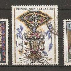 Sellos: FRANCIA. 1966. YV.Nº 1492,1493,1494. Lote 197902953