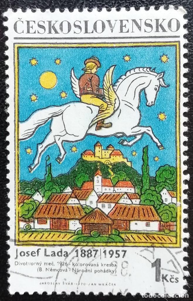 1970. CHECOSLOVAQUIA. 1780. 'EL CABALLO PRODIGIOSO', PINTURA DE JOSEP LADA. USADO. (Sellos - Temáticas - Arte)