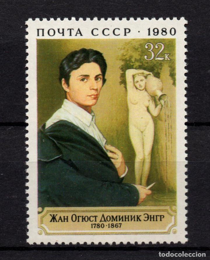 RUSIA 4722** - AÑO 1980 - PINTURA - BICENTENARIO DEL NACIMIENTO DEL PINTOR DOMINIQUE INGRES (Sellos - Temáticas - Arte)