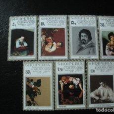 Sellos: ALBANIA 1973 IVERT 1456/62 *** 400º ANIVERSARIO DEL NACIMIENTO DEL PINTOR CARAVAGE - PINTURA. Lote 198240107