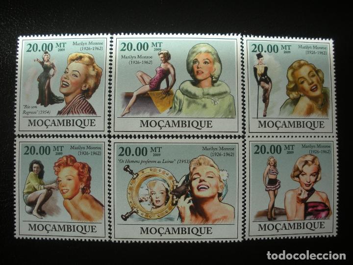 MOZAMBIQUE 2009 MICHEL 3336/41 *** HOMENAJE A MARILYN MONROE - CINE (Sellos - Temáticas - Arte)