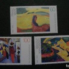 Timbres: /01.04/-ALEMANIA FEDERAL-1992-Y&T 1445/7 SERIE COMPLETA EN NUEVO(**MNH)-PINTURA. Lote 198944285