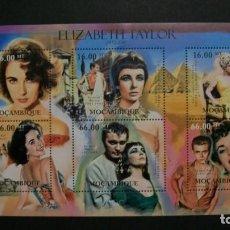 Sellos: /02.04/-MOZAMBIQUE-2012-BLOQUE Y&T 524 EN NUEVO(**MNH)-CINE-ACTRIZ-ELIZABETH TAYLOR. Lote 198983607
