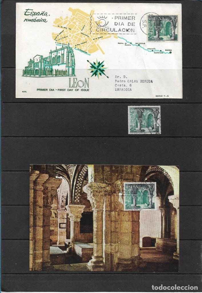 EDIFIL 1543. CRIPTA SAN ISIDORO, LEON. SOBRE PRIMER DÍA DE CIRCULACIÓN. TARJETA MÁXIMA. BLOQUE DE 4 (Sellos - Temáticas - Arte)