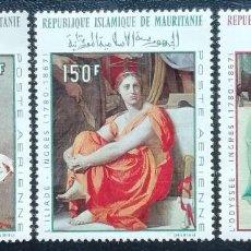 Sellos: 1968. MAURITANIA. A78 / A80. ARTE. CUADROS DE DOMINIQUE INGRES. SERIE COMPLETA. NUEVO.. Lote 201369001