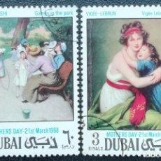 Sellos: 1972. DUBAI. AGRUPADO 96 A Y D. CUADROS DE ZANOMENEGHI Y LEBRUN. USADO.. Lote 201780217