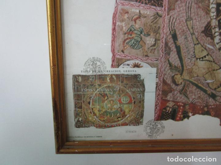 Sellos: Sello Tapiz de la Creación Gerona - Catedral de Girona - Sello Exp. Filª. Barnafil, 25 Octubre 1980 - Foto 2 - 204053663