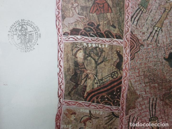 Sellos: Sello Tapiz de la Creación Gerona - Catedral de Girona - Sello Exp. Filª. Barnafil, 25 Octubre 1980 - Foto 5 - 204053663