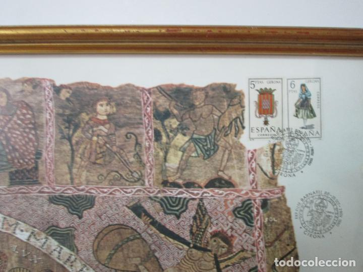 Sellos: Sello Tapiz de la Creación Gerona - Catedral de Girona - Sello Exp. Filª. Barnafil, 25 Octubre 1980 - Foto 7 - 204053663