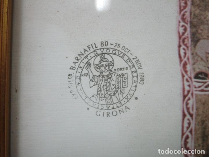 Sellos: Sello Tapiz de la Creación Gerona - Catedral de Girona - Sello Exp. Filª. Barnafil, 25 Octubre 1980 - Foto 10 - 204053663