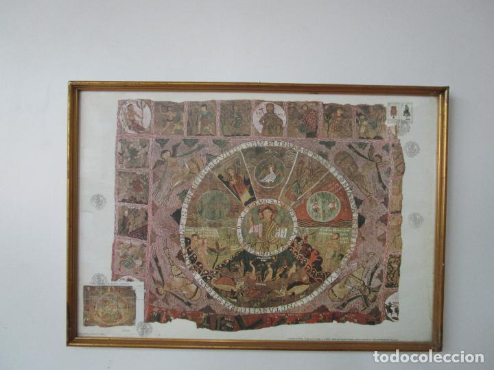 SELLO TAPIZ DE LA CREACIÓN GERONA - CATEDRAL DE GIRONA - SELLO EXP. FILª. BARNAFIL, 25 OCTUBRE 1980 (Sellos - Temáticas - Arte)