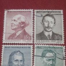 Sellos: SELLOS R. CHECOSLOVAQUIA MTDOS/1957/KAREL/IVAN/GENYE/PERSONAJES/FAMOSOS/ESCRITORES/POETAS/DRAMATURGO. Lote 204101187