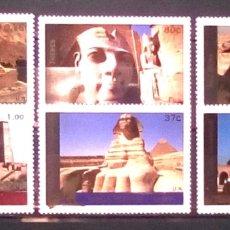 Sellos: ONU, EGIPTO LUGARES PATRIMONIO HUMANIDAD SERIE COMPLETA DE SELLOS NUEVOS. Lote 204403386