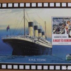 Sellos: LA ÚLTIMA NOCHE DEL TITANIC, 1958 ROY WARD BAKER(GB), SELLOS/FILATELIA TURKMENISTAN 1998. Lote 204544338
