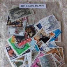 Sellos: TEMÁTICA ARTE PINTURA 100 SELLOS. Lote 205545697