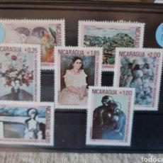 Sellos: 1982 NICARAGUA PINTURA ARTE SERIE COMPLETA NUEVA. Lote 206139857