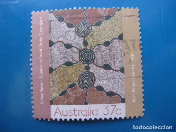 +AUSTRALIA 1988, ARTE, BUSH POTATO COUNTRY, YVERT 1090 (Sellos - Temáticas - Arte)