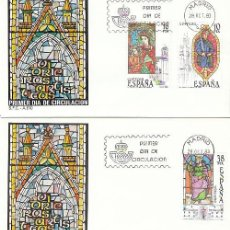 Sellos: EDIFIL 2721/3, VIDRIERAS ARITSTICAS, PRIMER DIA DE 28-10-1983, SFC. Lote 206893607
