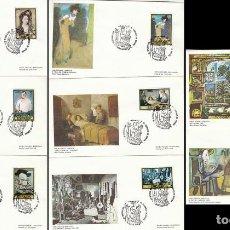 Sellos: AÑO 1981, PICASSO, EL GUERNICA EN ESPAÑA MATASELLO DE BARCELONA 25-10-1981 8 SOBRE DEL MUSEO PICASSO. Lote 206894301