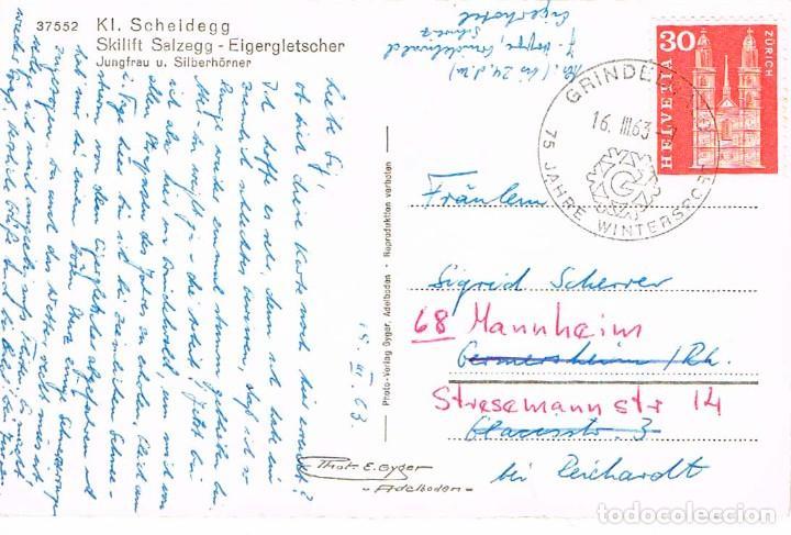 SUIZA, 75 AÑOS DE LOS JUEGOS DE INVIERNO EN GRINDEWALD, MATASELLO DE 16-3-1963 (Sellos - Temáticas - Arte)
