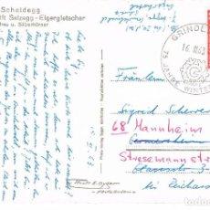 Sellos: SUIZA, 75 AÑOS DE LOS JUEGOS DE INVIERNO EN GRINDEWALD, MATASELLO DE 16-3-1963. Lote 206895855