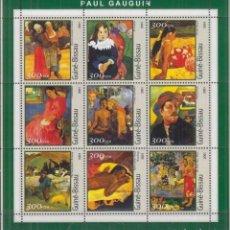 Sellos: GUINEA 2001 HOJA BLOQUE SELLOS IMPRESIONISTA PAUL GAUGUIN - IMPRESIONISMO. Lote 206928783