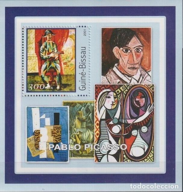GUINEA 2001 HOJA BLOQUE SELLOS PINTOR PABLO PICASSO - CUBISMO - SURREALISMO - EXPRESIONISMO (Sellos - Temáticas - Arte)