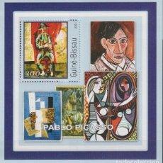 Sellos: GUINEA 2001 HOJA BLOQUE SELLOS PINTOR PABLO PICASSO - CUBISMO - SURREALISMO - EXPRESIONISMO. Lote 206929293