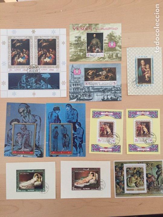 Sellos: FANTÁSTICA COLECCIÓN DE SELLOS Y HB DE PINTURAS ARTE. 35 fotos.Con clasificador de 32 paginas - Foto 34 - 184432318