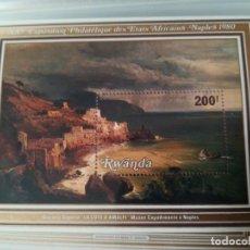 Sellos: HOJA DE BLOQUE ARTE 200FR RWANDA CON GOMA. Lote 209354212