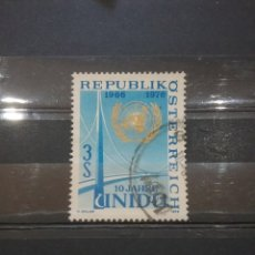 Sellos: SELLOS AUSTRIA (OSTERREICH) MTDOS/1976/10ANIV/ONU/INDUSTRIA/PUENTE/EMBLEMA/GLOBO/ARQUITECTARQUITECTU. Lote 209574050