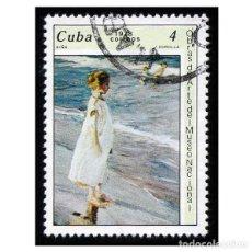 Sellos: CUBA 1978. MI 2274, YT 2042. ARTE. PINTURA. SOROLLA. NIÑA. USADO. Lote 209771136
