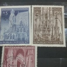 Sellos: SELLOS AUSTRIA (OSTERREICH) MTDOS/1977/ARTE/ARQUITECTURA/IGLESIA/CATEDRAL/SAN/ESTEBAN/RELIGION/. Lote 209877062