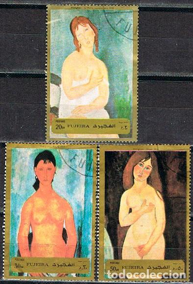 EMIRATOS ARABES, FUJEIRA 1260/2, MODIGLIANI: DESNUDOS, USADO (SERIE COMPLETA) CORREO TERRESTRE (Sellos - Temáticas - Arte)