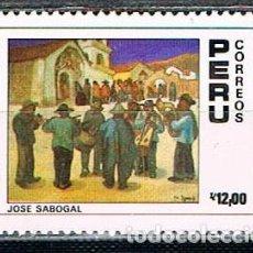 Sellos: PERU Nº 1367, CENTENARIO DEL NACIMIENTO DE JOSÉ SABOGAL. PINTOR. NUEVO SIN GOMA. Lote 210335912
