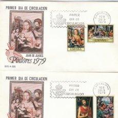 Sellos: EDIFIL 2537/42, PINTORES: JUAN DE JUANES, PRIMER DIA DE 28-9-1979 EN 3 SOBRES DEL SFC. Lote 211916710