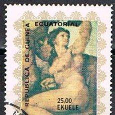 Sellos: GUINEA ECUATORIAL 1105, MIGUEL ANGEL: VENUS, USADO. Lote 212616865