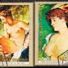 Sellos: GUINEA ECUATORIAL Nº 421, DESNUDOS DE PINTORES DIVERSOS, USADO, SERIE CORTA. Lote 212637116