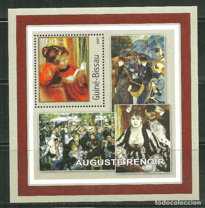 GUINEA BISSAU 2001 HB *** ARTE - PINTURA - AUGUSTE RENOIR (Sellos - Temáticas - Arte)