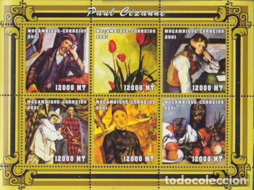 MOZAMBIQUE 2001 IVERT 1694DY/ED *** PINTURA - CUADROS DE PAUL CEZANNE - ARTE (Sellos - Temáticas - Arte)