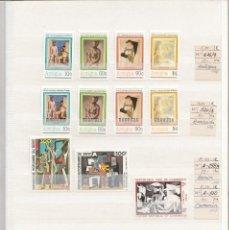 Sellos: PINTURA - LOTE DE SELLOS MUNDIALES NUEVOS CON PINTURAS DE PABLO PICASSO. Lote 213247003
