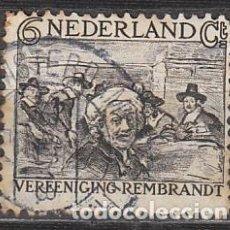 Sellos: HOLANDA Nº 228 (AÑO 1930), REMBRANDT ANTE EL SINDICATO DE PAÑEROS, USADO. Lote 213345067